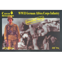 1/72 WWII German Afrika Korps Box (Caesar)