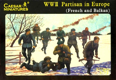1/72 WWII Partisan in Europe: French & Balkan Soldiers Box (Caesar)
