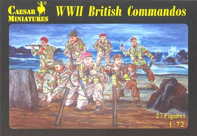 1/72 WWII British Commandos Box (Caesar)
