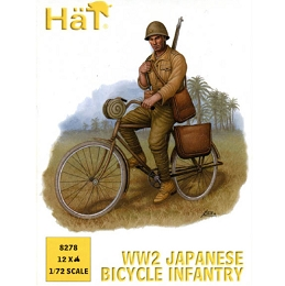 1/72 WWII Japanese  Bicycle Infantry Box (HaT)