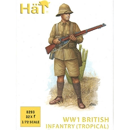 1/72 WWI British Infantry (Khaki Drill) Tropical Box (HaT)