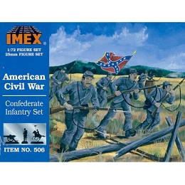 1/72 Confederate Infantry Civil War Set (IMEX)