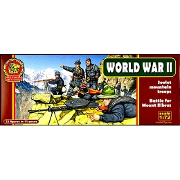 1/72 WWII Soviet Mountain Troops Box-Battle for Mt Elbrus (Mars)