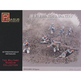 1/72 WW1 French Infantry Box (Pegasus)