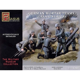 1/72 WW2 German Mortar Team Box (Pegasus)