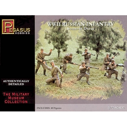 1/72 WW2 Russian Infantry (Summer) Box (Pegasus)