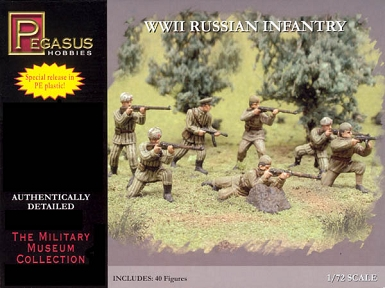 1/72 WW2 Russian Infantry (Summer/Winter )Box (Pegasus)