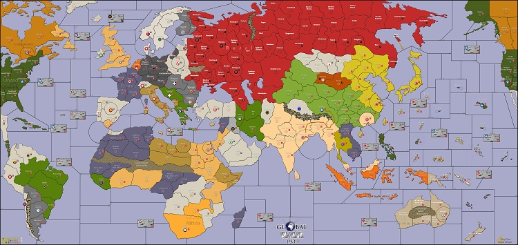 Global War 1939 Map