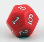 Die (12 Sided) - Red