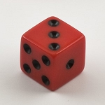 Red Die - 6 Sided (Pacific 1940)
