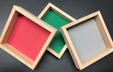 Wooden Dice Tray - in Multi-Colors