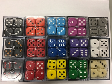 Opaque 16mm Dice w/ Rounded Corners (12 Pk)