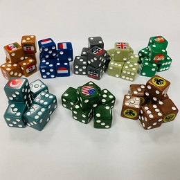 Custom WW1-6 Sided Dice (6/bag)