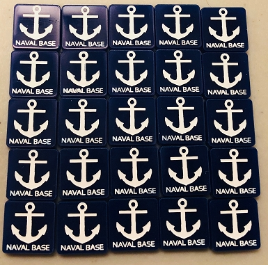 HBG Naval Base Marker (Set of 25) (Acrylic)