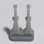 HBG 3D British Radar Tower - Unassembled (Acrylic) 2 piece
