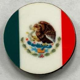 HBG Mexico Flag (1968-P) Roundel (10/set)