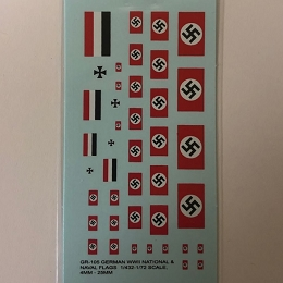 GR-105 Decal Sheets, Air Recognition, Swastika Flags