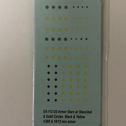 US-112 Decal Sheets, U.S. Stars in black & Yellow