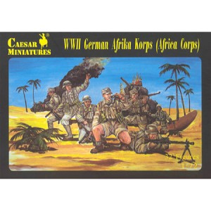 1/72 WWII German Afrika Korp Box (Caesar)