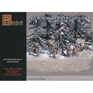 1/72 WW2 Russian Support Weapons Team Box (Pegasus)