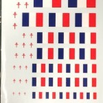 French Flags & Lorraine Cross Decal Sheets (FR-103)
