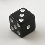 Black Die - 6 Sided (Square Corners)