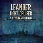 Leander Light Cruiser 3D Printed  Set
