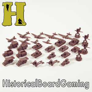 "HBG ""Battle Pieces"" - WW2 Russia Early War Set - Brown"