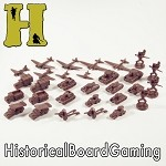 "HBG ""Battle Pieces"" - WW2 Russia Early War Set (Brown)"