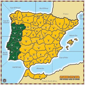 Spanish Civil War Map and Game on