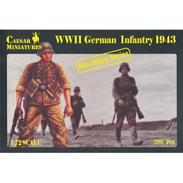 1/72 WWII German Infantry 1943 Box (Caesar)