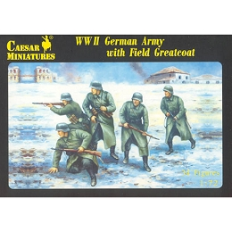 1/72 WWII German Army w/ Greatcoat Box (Caesar)