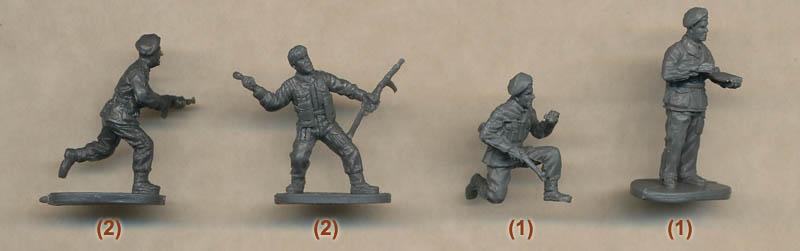 1//72 WWII British Commandos FIGURES SET Caesar 73