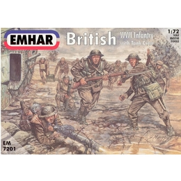 1/72 WWI British Infantry with Tank Crew (EMHAR)