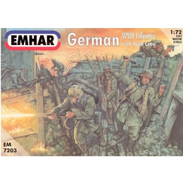 1/72 German WWI Infantry with Tank Crew (EMHAR)