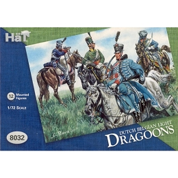 1/72 Waterloo Dutch Belgian Light Dragoons (12 Mtd) (HaT)
