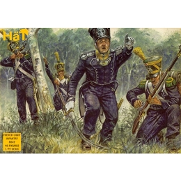 1/72 Napoleonic French Light Infantry (48) (HaT)