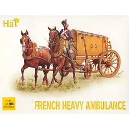 1/72 Napoleonic French Heavy Ambulance (3 w/3 Figs & 6 Horses) (HaT)