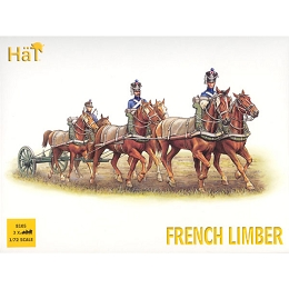 1/72 Napoleonic French Horse Limber Team (3 sets) (HaT)