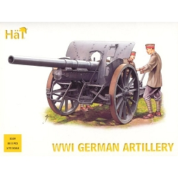 1/72 WWI German Artillery w/ Crew Box (HaT)
