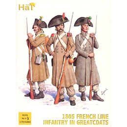 1/72 French Line Infantry in Greatcoats 1805 (HaT)