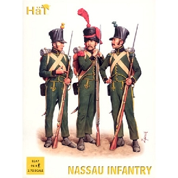 1/72 Waterloo Nassau Infantry (96) (HaT)