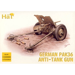 1/72 WWII German PaK 36 Anti-Tank Gun (4) (HaT)