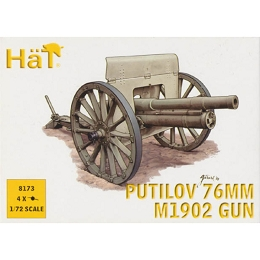 1/72 WWI Putilov 76mm M1902 Gun (4) (HaT)