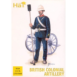 1/72 Colonial Wars British Artillery (24 w/4 Cannons) (HaT)