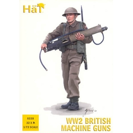 1/72 WWII British Machine Gun Team Box (HaT)
