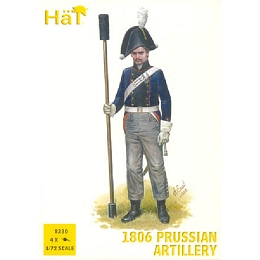 1/72 Napoleonic 1806 Prussian Artillery (16 w/4 Cannons) (HaT)