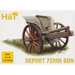 1/72 WWI Deport 75mm Gun (4) (HaT)
