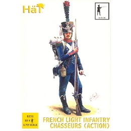 1/72 Napoleonic French Light Infantry Chasseurs Action (32) (HaT)