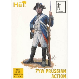 1/72 7 Years War Prussian Infantry Action (40) (HaT)